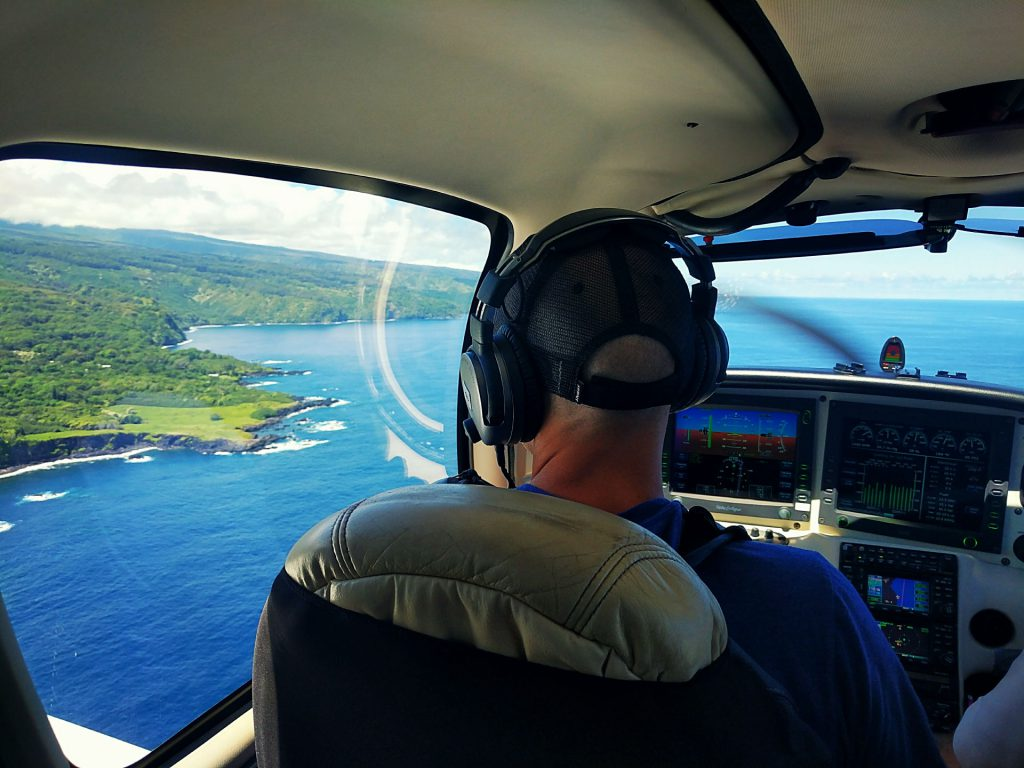 Magnus flying me around Maui